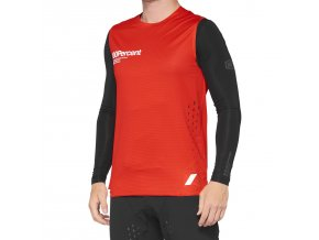 Dres 100% R-CORE Concept Sleeveless Jersey Red