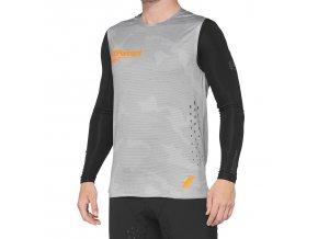 Dres 100% R-CORE Concept Sleeveless Jersey Grey Camo