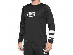 Dres 100% R-CORE Jersey Black/White