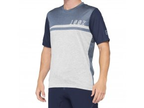 Dres 100% AIRMATIC Jersey Steel Blue/Grey