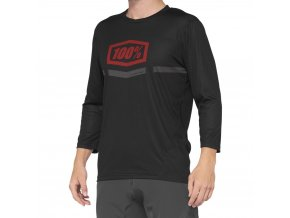 Dres 100% AIRMATIC 3/4 Sleeve Jersey Black/Red