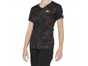 Dámsky dres 100% AIRMATIC Women´s Jersey Black Floral