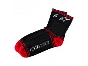 mtb winter socks black red 1