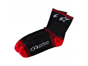 mtb winter socks black red 1