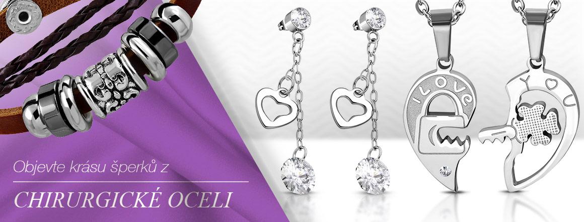 Objevte krásu šperků z kvalitní chirurgické oceli, která vás okouzlí svou odolností a pevností.