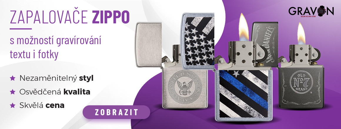 Zippo zapalovače s možností gravírování