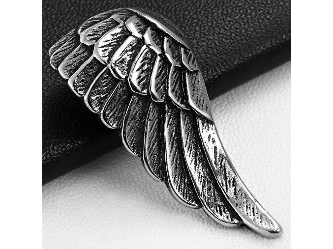 Přívěsek z chirurgické oceli - Andělské křídlo