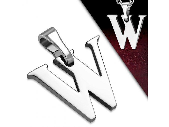 Přívěsek z chirurgické oceli - Písmeno W