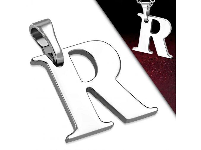 Přívěsek z chirurgické oceli - Písmeno R