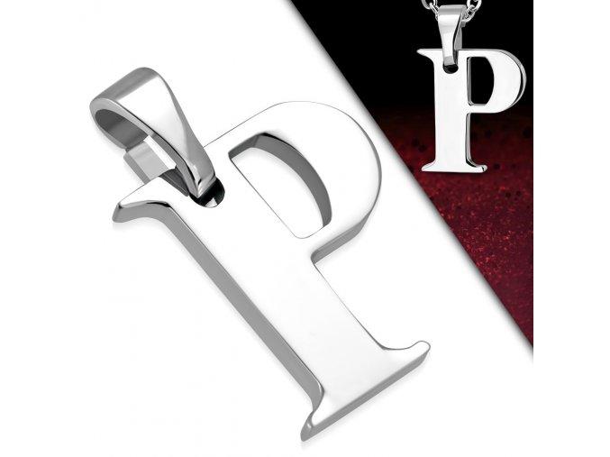 Přívěsek z chirurgické oceli - Písmeno P