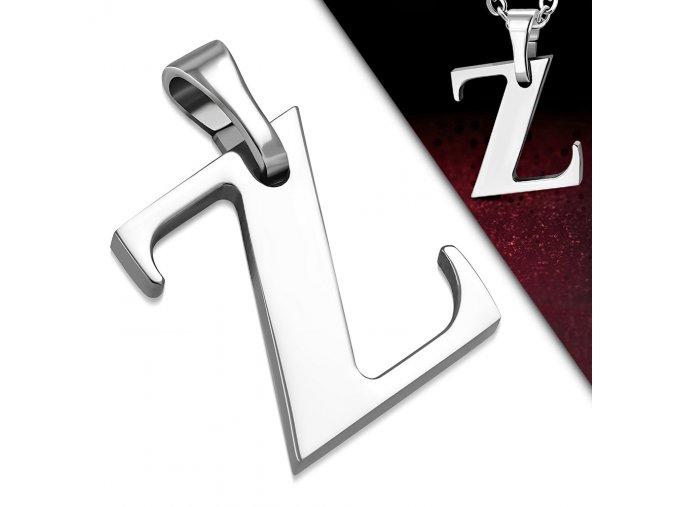 Přívěsek z chirurgické oceli - Písmeno Z