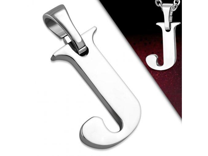 Přívěsek z chirurgické oceli - Písmeno J