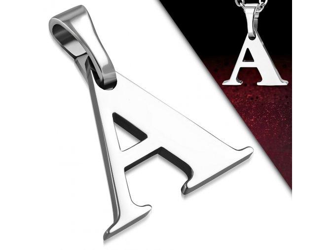 Přívěsek z chirurgické oceli - Písmeno A