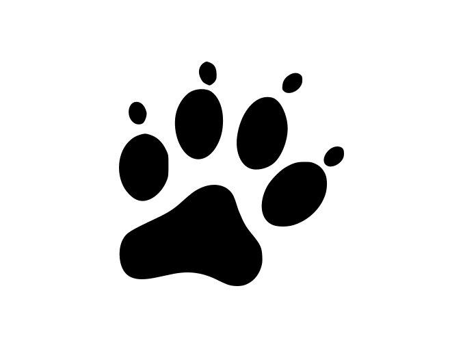 Samolepka - psí tlapka 2
