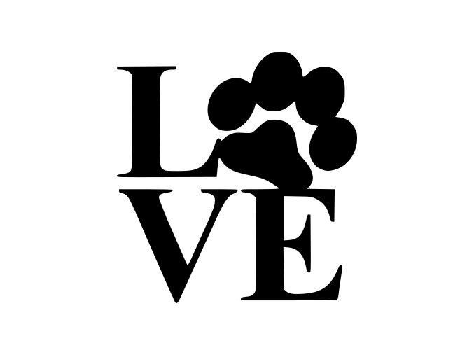 Samolepka - Love tlapka