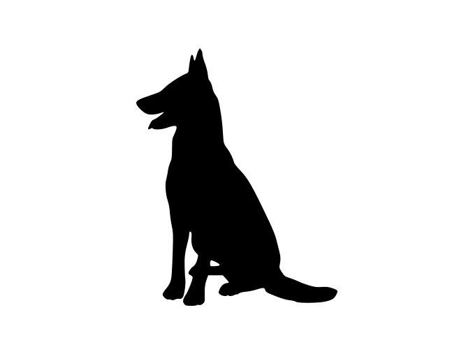 Samolepka pes - Německý ovčák