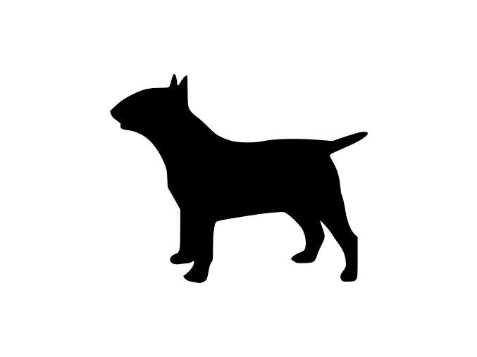 Samolepka pes - Anglický bulteriér