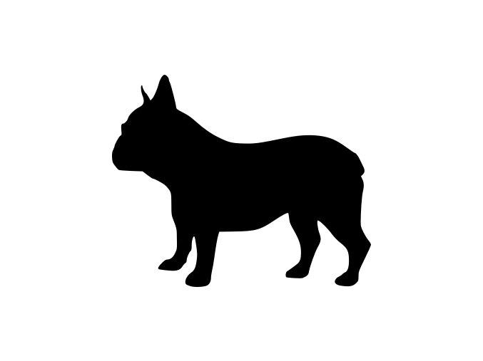 Samolepka pes - Buldoček