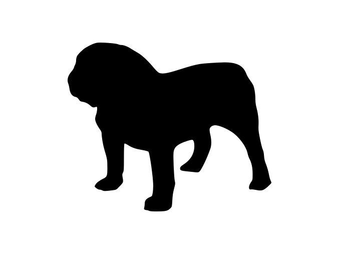 Samolepka pes - Buldok