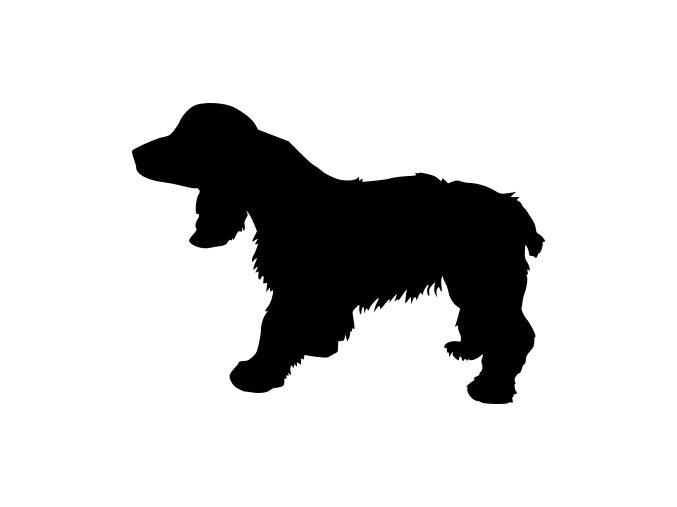Samolepka pes - Ruský španěl