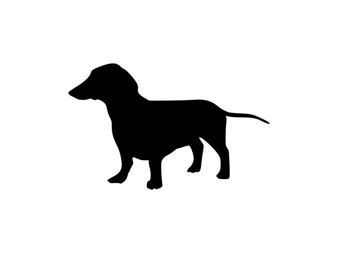 Samolepka pes - Jezevčík