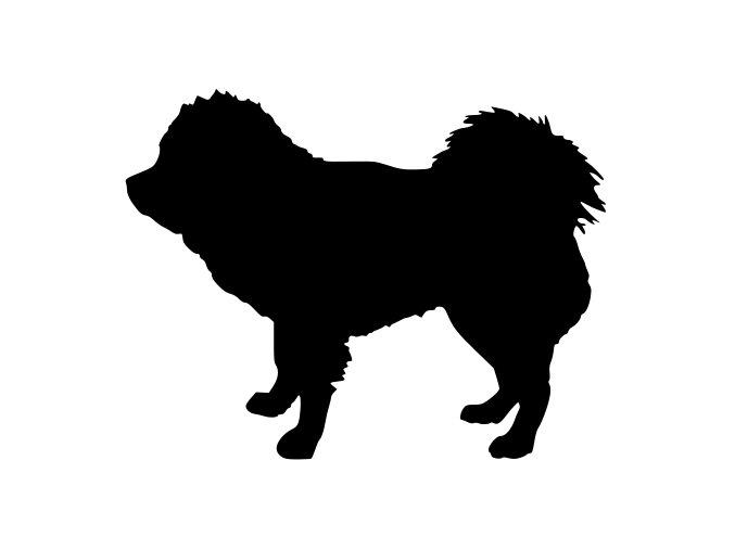 Samolepka pes - Tibetská doga