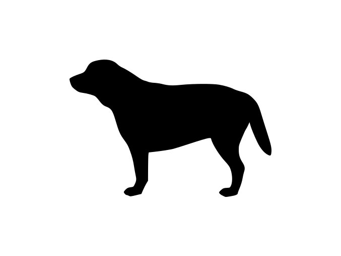 Samolepka pes - Labrador