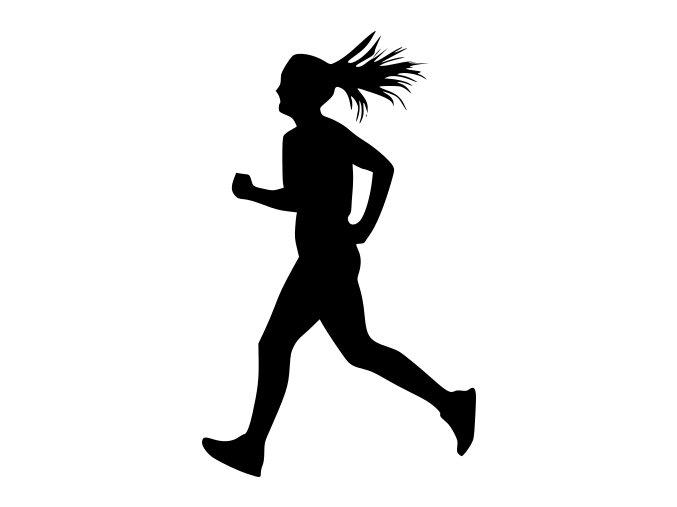 Samolepka - Běžkyně