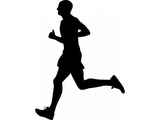 Samolepka - Běžec silueta sprint