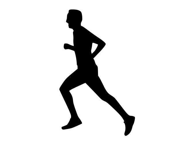 Samolepka - Běžec vítěz