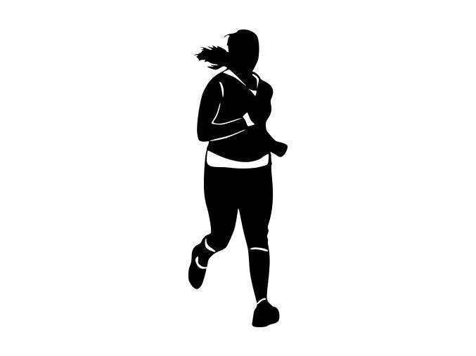 Samolepka - Běžkyně trenérka