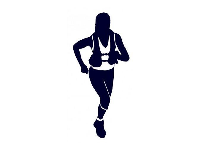 Samolepka - Běžkyně horský běh