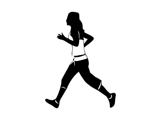 Samolepka - Běžkyně rychlo chůze