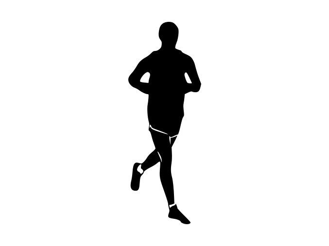 Samolepka - Běžec kondiční běh