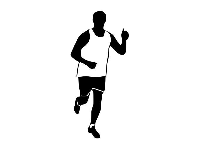 Samolepka - Milovník běhu