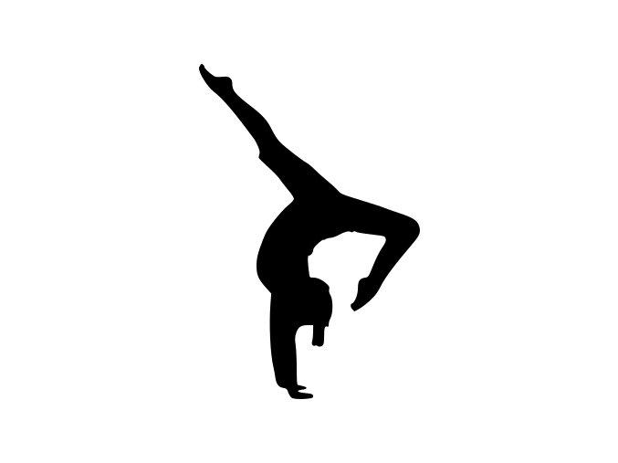 Samolepka - Gymnastka