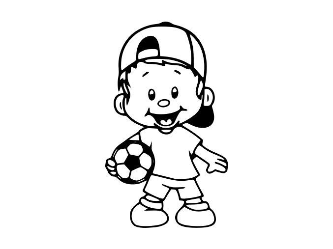 Samolepka - Fotbal - kluk Junior fotbalista