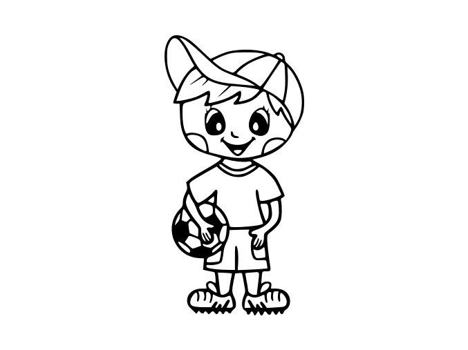 Samolepka - Fotbal - šťastný fotbalista v kopačkách