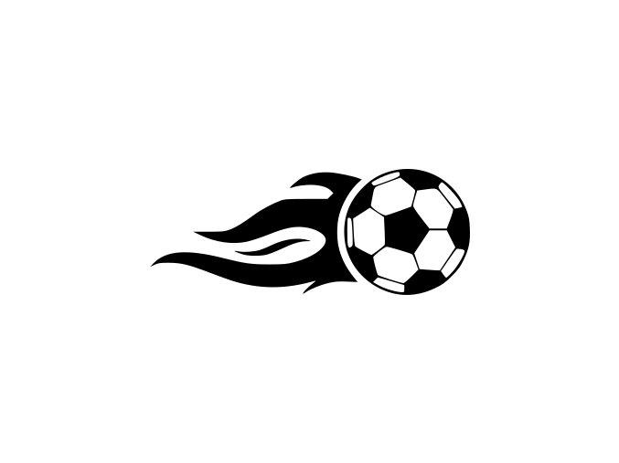 Samolepka - Fotbal - fotbalový míč Pumelice s plameny