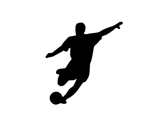 Samolepka - Fotbal - silueta fotbalista Útočník