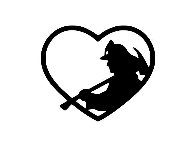 Samolepka  Hasič v srdci - I love