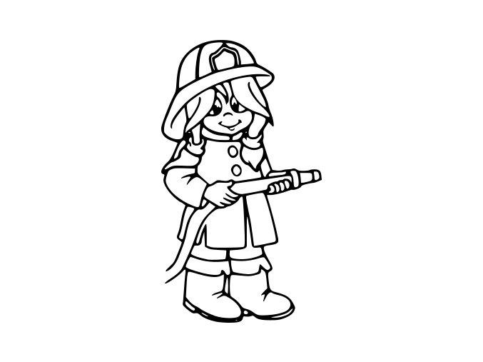Samolepka Hasiči - Holka hasička