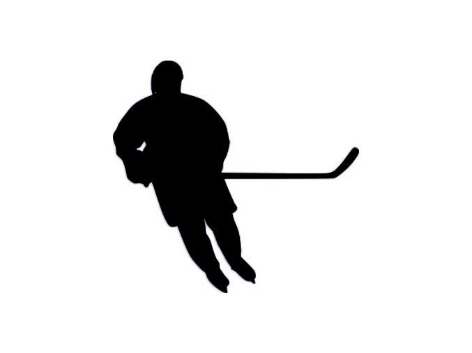 Samolepka - Silueta hokejisty