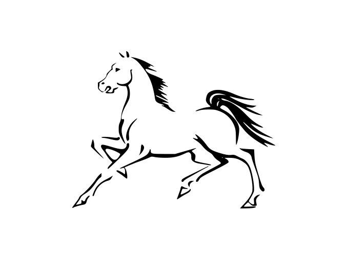 Samolepka - Obrys koně