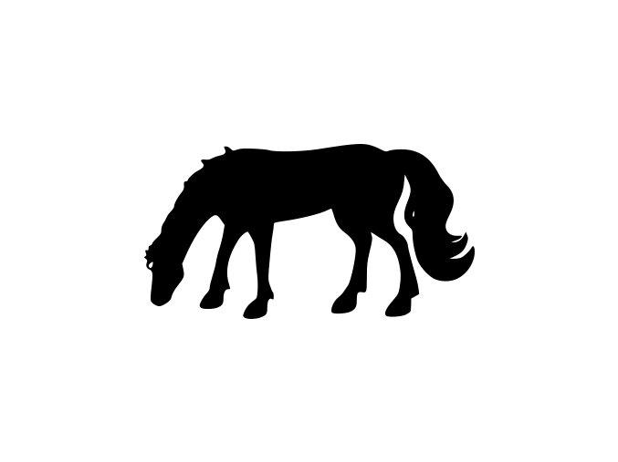 Samolepka - Kůň na pastvě