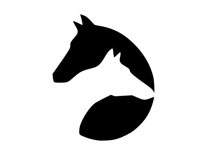 Samolepka - Symbol koně