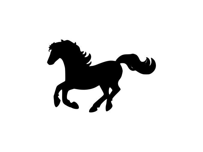 Samolepka - Kůň v pohybu