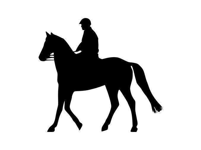 Samolepka - Muž na koni