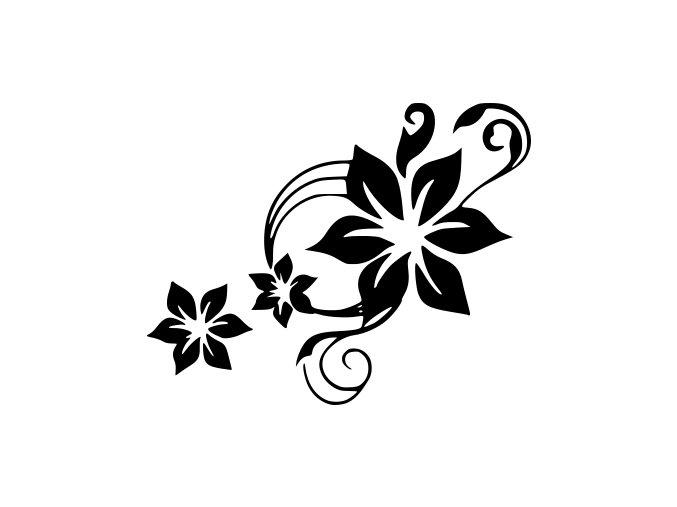 Samolepka - Květiny