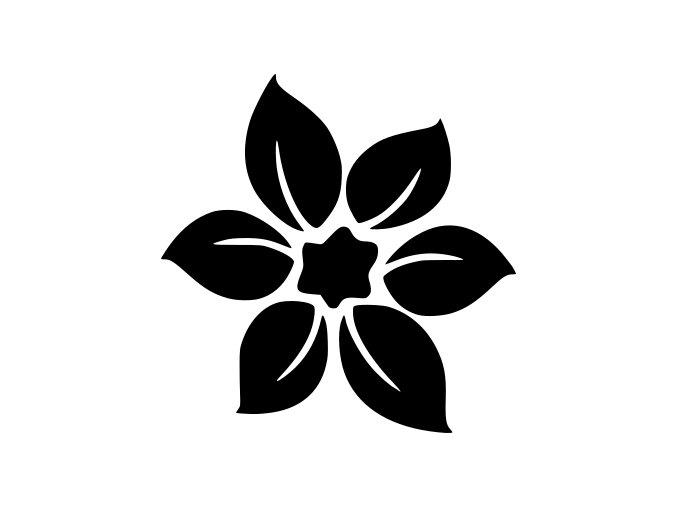 Samolepka - Květina